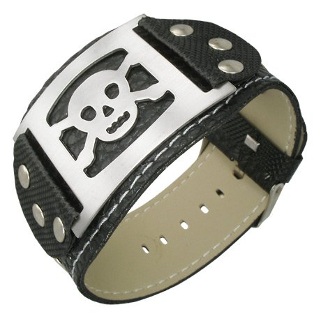 Stainless Leather Buckle Bracelet Pirate product image