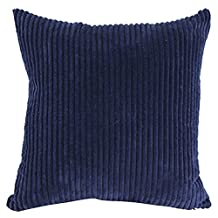 Square/Rectangle Solid Cnady Color Printed Cushion Cover ChezMax Corduroy Striped Throw Pillow Case Sham Slipover Pillowslip Pillowcase For Decor Decorative Drawing Living Room