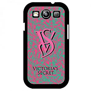 Plastic Black Cover, Victoras Secret Brand Samsung Galaxy S3 Funda, Unique Style Victoras Secret Brand Phone Funda