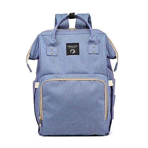Bolso coreano de la momia de la manera, bolso de hombro, bolso de múltiples funciones de la madre de gran capacidad, vaya el morral, bolso del bebé de la madre ( Color : Pink ) Blue and purple