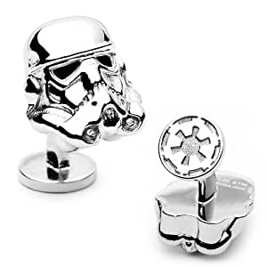 Officially licensed by Lucasfilm Star Wars 3-D Storm Trooper Head Cufflinks C...