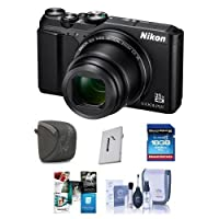 Nikon Coolpix A900 Digital Point & Shoot Camera Black - Bundle With 16GB SDHC Card, Camera Case, Cleaning Kit, Card Case, Software Package