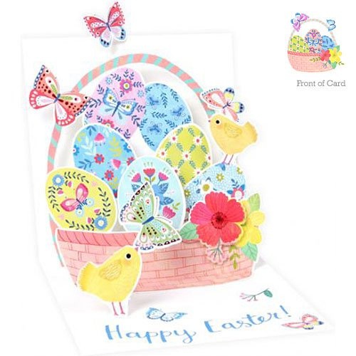 up with Paper Pop-up Treasures Greeting Card - Easter Butterfly Basket from Up With Paper
