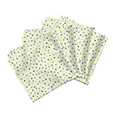 Roostery Natural Linen Cotton Dinner Napkins Nesting Dots by Bzbdesigner Set of 4 Cotton Dinner Napkins Made