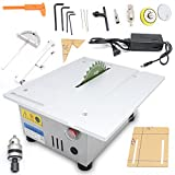 Mini Precision Table saw Blade DIY Woodworking Cutting Machine T5 Portable