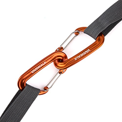 Lightweight and Strong Aluminum, Best For Hammock Suspension Fits All Hammocks, Clipping On Camping Accessories,Multifunctional Outdoor Sports Carabiner Buckle (Pair)