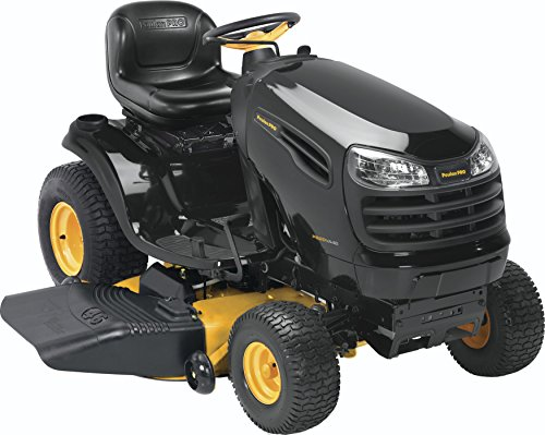 Poulan-Pro-960420170-PB20VA46-Briggs-20-HP-V-Twin-Ready-Start-Pedal-Control-Fast-Auto-Drive-Cutting-Deck-Riding-Mower-46-Inch