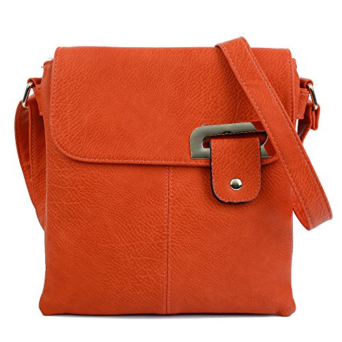 Orange Femme L'épaule Sac Gold Porter Craze London Pour À Trim gBW7FZ