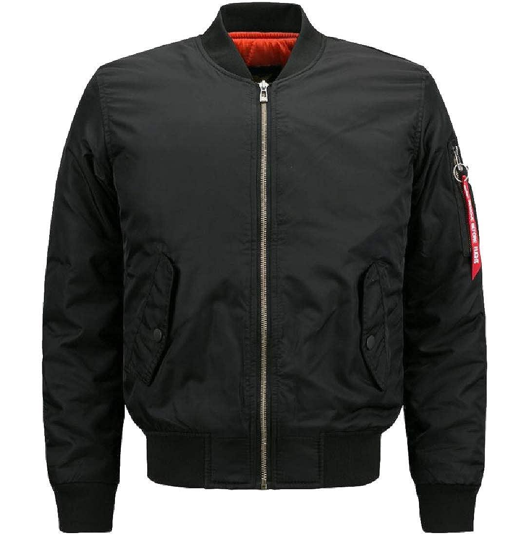 Zimaes-Men Thermal Casual Loose Waterproof Padded Pilot Jacket