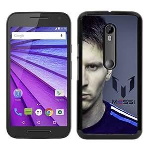 Hot Sale Motorola Moto G 3rd Generation Cover Case ,Soccer Player Lionel Messi 61 Black Motorola Moto G 3rd Gen Cover Popular And Lovely Custom Designed Phone Case