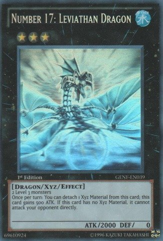 Yu-Gi-Oh! - Number 17: Leviathan Dragon (GENF-EN039) - Generation Force - 1st Edition - Ghost Rare