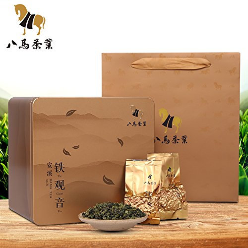 Bama tieguanyin 八马茶叶 安溪清香型铁观音 私享清韵兰花香铁盒装500克 Eight horse tieguanyin FOOD CO
