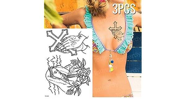 5 Unidades/Pieza Tatuaje Temporal de Tigre Pantera Negra Tatuaje ...