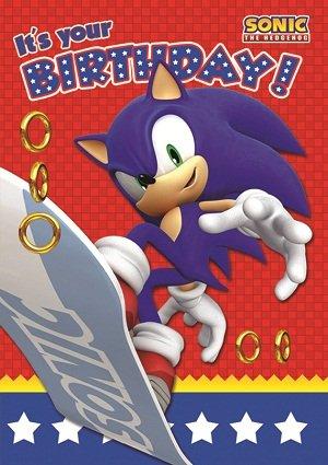 Amazon Sonic The Hedgehog Birthday Card Toys Games