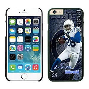 Indianapolis Colts Tom Zbikowski Case For iPhone 6 Plus Black 5.5 inches