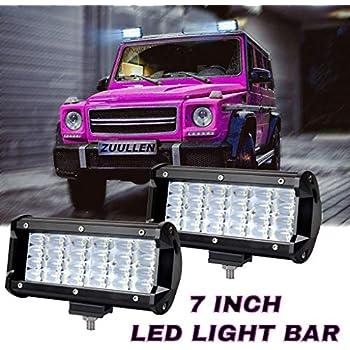 Amazon Com 7 Inch Led Light Bar Zuullen Light Pods 240w
