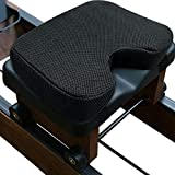 Acelane Rowing Machine Seat Cushion Memory Foam Washable Cover Non-Slip Bottom with Straps Fits Perfectly for Concept 2 Rowing Machine