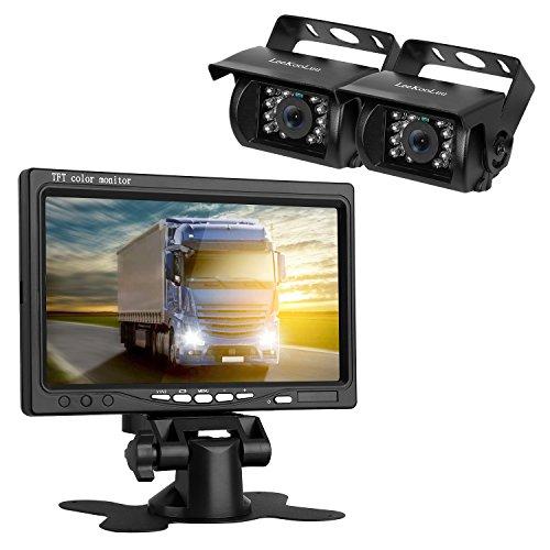 LeeKooLuu Backup Camera and TFT Monitor Kit 2 Rear View Cameras Night Vision Waterpoof & 7