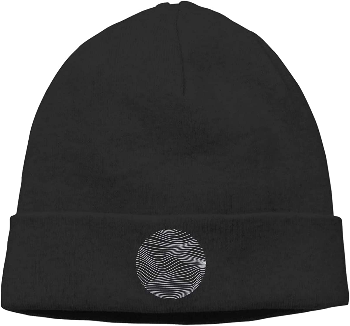 Circle Line Waves Men Winter Summer Oversized Baggy Beanie Hats