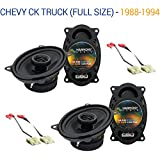 Fits Chevy CK Truck (Full Size) 1988-1994 Factory Speaker Upgrade Harmony (2) R46 New