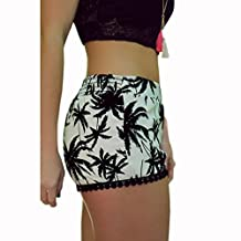 Coromose Women Hot Pants Summer Casual Beach Shorts High Waist Shorts