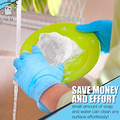 14 Pack Kitchen Cleaning Sets,Including Microfiber Cleaning Cloth,Heavy Duty Non-Scratch Scrubbing Cleaner Sponges for Dishes,Pans Ovens Cleaning Windows