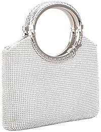Womens Handbag Crystal Rhinestone Evening Clutch Bags Party Wedding Clutch Purses
