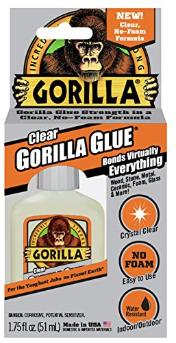 Gorilla Clear Glue, 1.75 ounce Bottle, Clear
