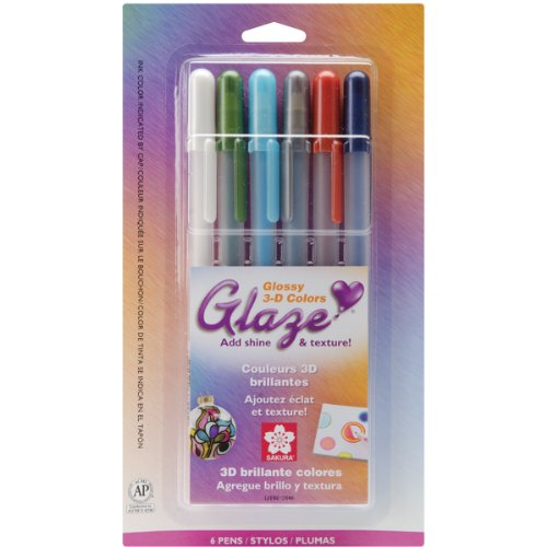 Brand New Gelly Roll Glaze Bold Point Pens 6/Pkg-Assorted Colors Brand New