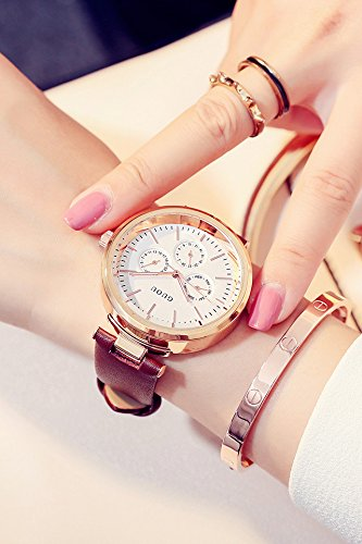 Generic Hong Kong ancient European new simple large dial Shi Ying watch waterproof ladies fashion atmosphere three (Chrono Ladies Watch)