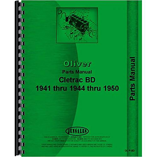 New Oliver BD Crawler Parts Manual