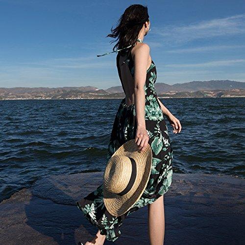RONG Visten green De Falda Femenina Playa Resort Seaside XIU Sin Respaldo RSwFA4
