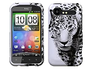 Black White Leopard Skin Crystal 2D Hard Case Cover for HTC Droid Incredible 2 6350