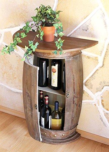 DanDiBo Sideboard Table Wine Barrel 0373-R Brown Cupboard Wine Shelf Barrel 73 cm Side Table