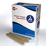 Tongue Depressors, Standard Sized, Case, 10 Boxes, 5000 Depressors