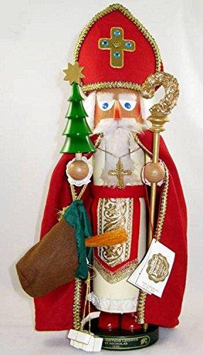 Retired Signed Herr Christian Steinbach St. Nicholas Nutcracker 2nd in Christmas Legends Series by Steinbach Family