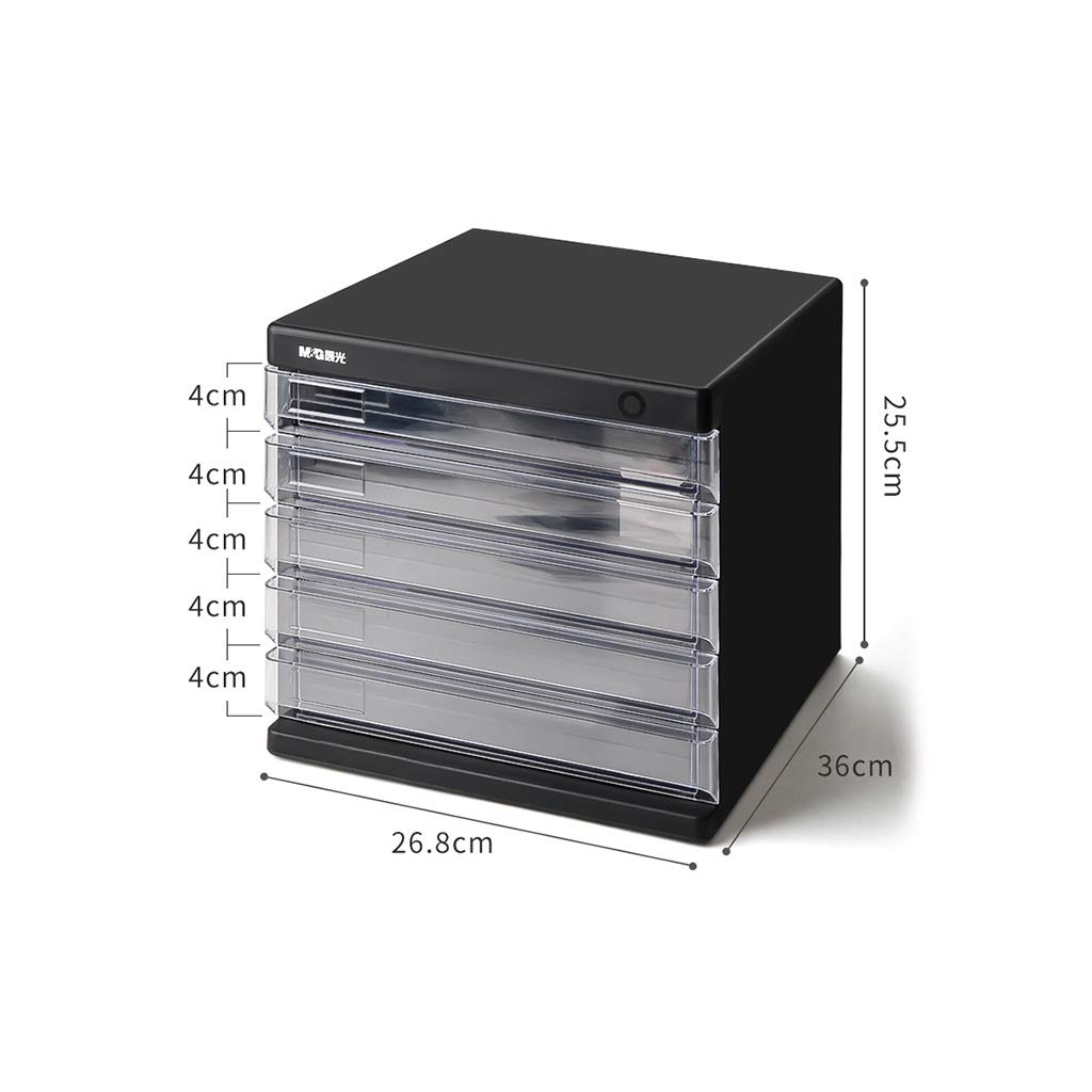 A4 Desktop File Cabinet Data Cabinet Drawer File Storage Cabinet File Box Office Supplies Portable and Tidy Storage box-plastic26.8X36X25.5CM (Color : A-5th Floor)