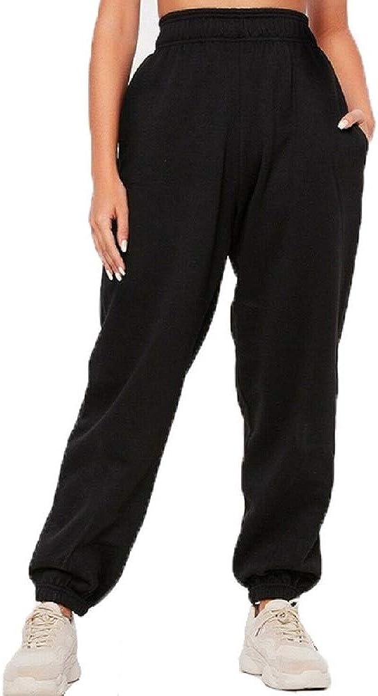 pantalones de sudor Pantalones de ch/ándal para mujer de los a/ños 90 con pu/ños el/ásticos de forro polar parte inferior de la talla 6 a 16
