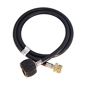 KIBOW Type 1(QCC 1) Propane Tank Hose Adapter/Connects 1LB Propane Tank Connector Appliances to a Refillable Bulk Propane Cylinder-4Ft Long
