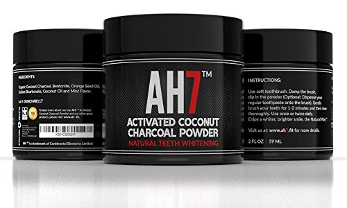 Charcoal Teeth Whitening Powder By AH7 - Activated Charcoal Teeth Whitening - Charcoal Teeth Whitening Organic - Charcoal Teeth Whitening Coconut - Teeth Whitening Kit Mint Flavor Made in USA BUY NOW - Dr Song Teeth Whitening Trays