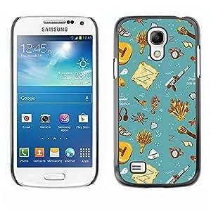 [Neutron-Star] Snap-on Series Teléfono Carcasa Funda Case Caso para Samsung Galaxy S4 Mini i9190 (NOT S4) [Recuerdos del trullo Wallpaper limpias Niños]