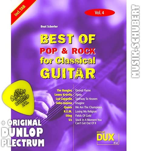 Best of Rock y Pop for para guitarra clásica Vol, 4 Púa: Amazon.es ...