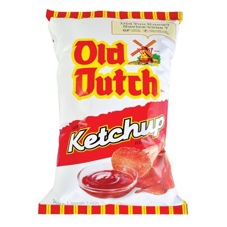 Old Dutch Ketchup Flavoured Chips - Imported From (Old Dutch Foods)