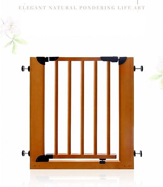 L.ORE Barrera de Seguridad para niños de Madera Maciza, Valla de Escalera, Puerta para Aislamiento de Mascotas para bebés, Valla, Valla para Puerta de bebé: Amazon.es: Hogar