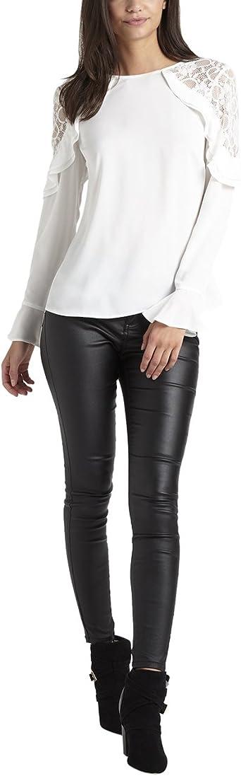 6 10 Lipsy Blanc Haut Chemisier Taille 4 8 14