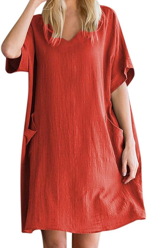 GOWOM Pocket Loose Dress...
