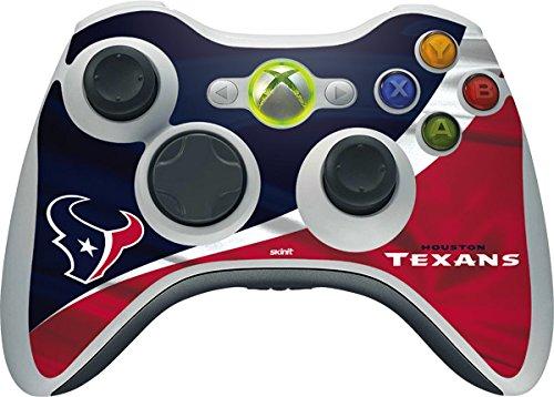 NFL Houston Texans Xbox 360 Wireless Controller Skin - Houston Texans Vinyl Decal Skin For Your Xbox 360 Wireless Controller (Xbox 360 Skin Nfl Controller)