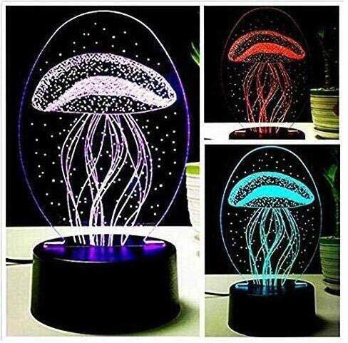 Amazon.com: 3d New medusas Lámpara de luz de noche Touch ...