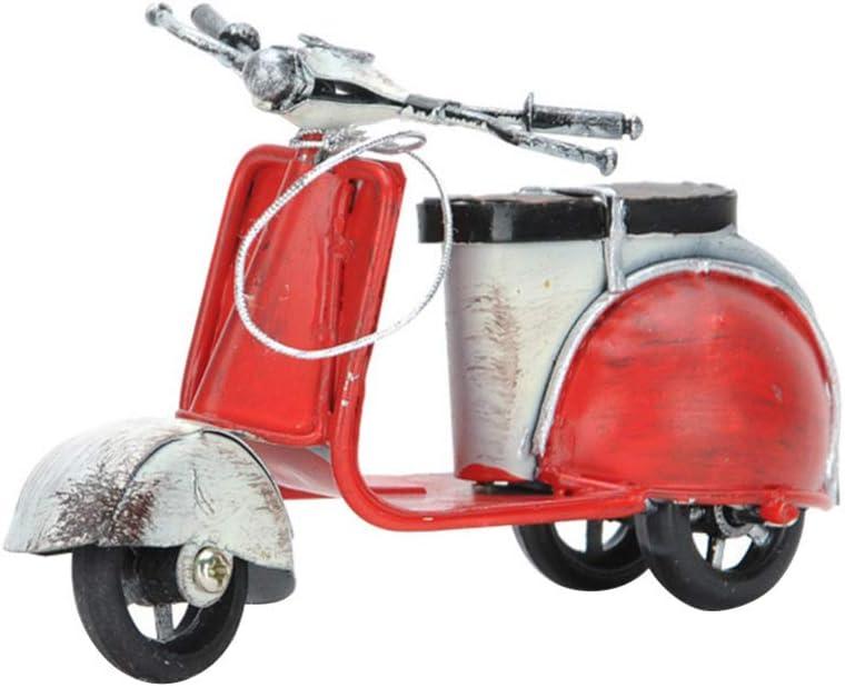 LIOOBO Modelo de Motocicleta de Hierro Linda Mujer Moto Figura Escultura artesanía Ornamento Coleccionable Foto Prop para Escritorio en casa (Color Aleatorio)