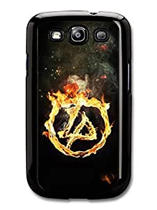 Linkin Park Burning Logo Flames Fire case for Samsung Galaxy S3 A6058